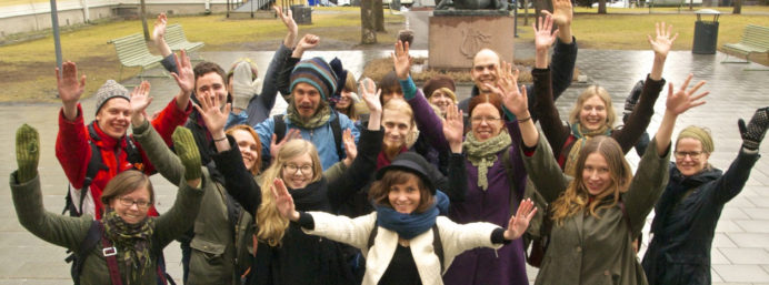 Hiilivapaa Suomi -kampanjan aktiiveja
