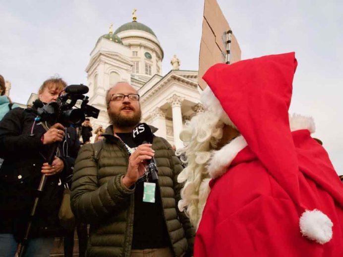 Hiilivapaa Suomi -kampanjan Joulupukki