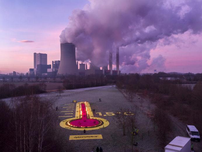 Mielenosoitus Niederaussemin ruskohiilivoimala